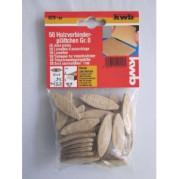 Ламели деревянные для мебельных соединений 0х15х8мм, 50 шт,KWB - Инсел