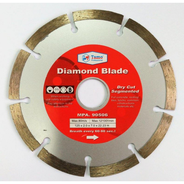 Диск алмазный сегментный 125x22.2мм, TAMOLINE — Инсел