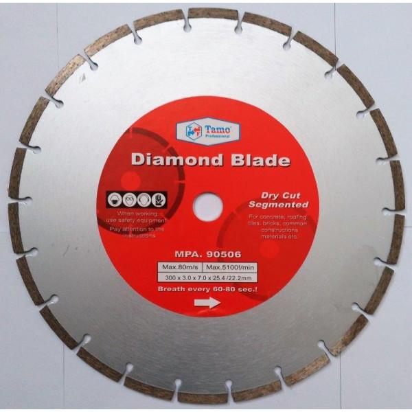 Диск алмазный сегментный 300х25.4-22.2мм, TAMOLINE — Инсел