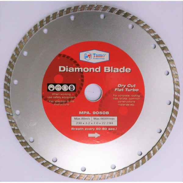 Диск алмазный турбо 230x22.2 мм, TAMOLINE — Инсел