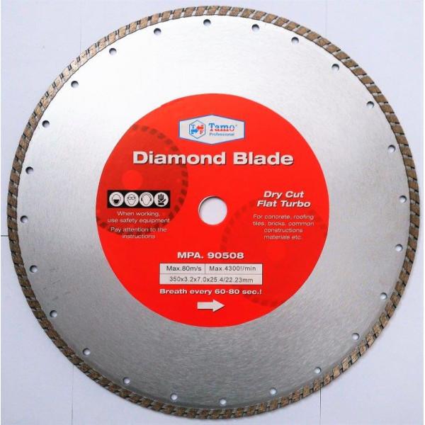 Диск алмазный турбо 350х25.4-22.2 мм, TAMOLINE — Инсел