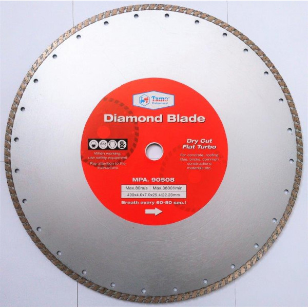 Диск алмазный турбо 400х25.4-22.2 мм, TAMOLINE - Инсел