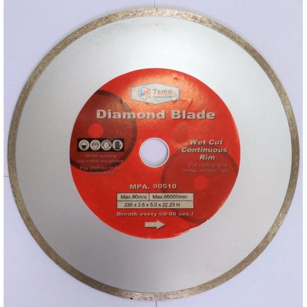 Диск алмазный сплошной по керамике 230х22,2мм, TAMOLINE - Инсел