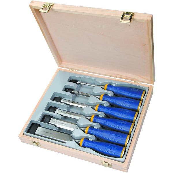 Набор стамесок в деревянной коробке 6 шт.( 6,10,15,20,25,35 мм) IRWIN - Инсел