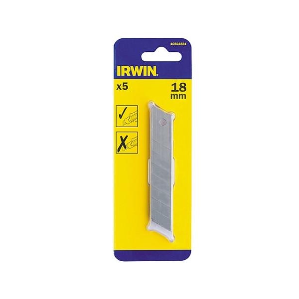 Лезвие IRWIN 18 мм 5 шт 10504561 - Инсел