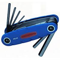 Набор шестигранных ключей (1.5, 2, 2.5, 3, 4, 5, 6, 8 мм) RTT FOLD UP HEX KEY SET - Инсел