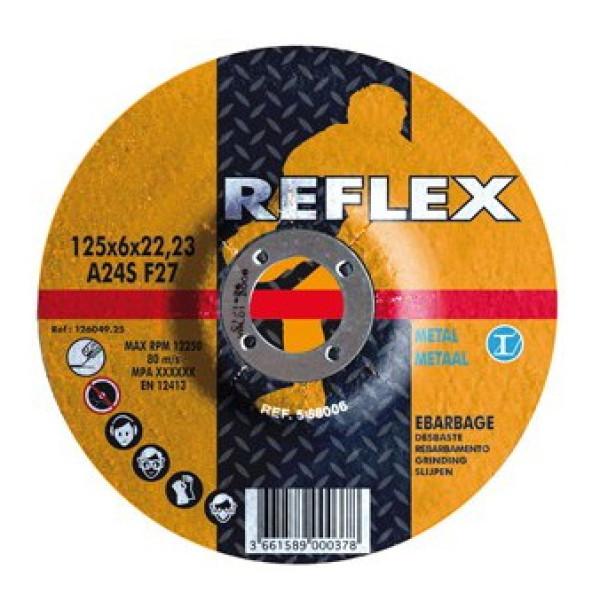 Диск обдирочный по металлу 115х6.0х22, REFLEX/ORANGE - Инсел