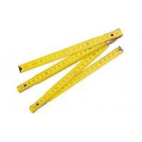 Рулетка деревянная раскладная 2м,10 частей, MEGA