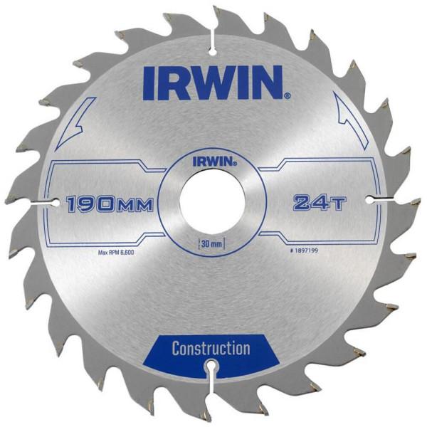 Диск пильный по деревоматериалам IR CSB 190x24Tx30, IRWIN - Инсел