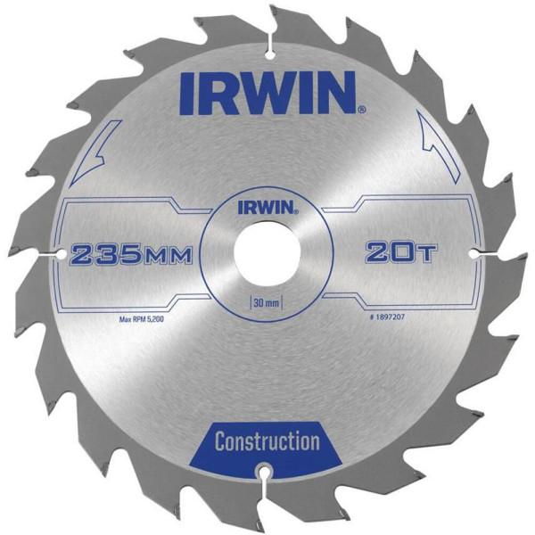 Диск пильный по деревоматериалам IR CSB 235x20Tx30, IRWIN - Инсел