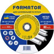 Диск шлифовальный по металлу 230х6.0х22.2, FORMATOR - Инсел
