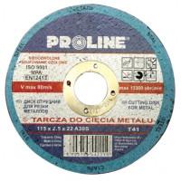 Диск отрезной по металлу 115х2.5х22 PROLINE