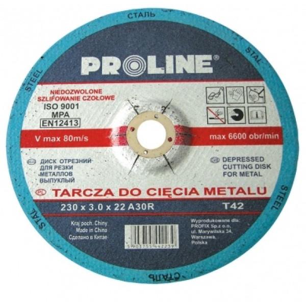 Диск отрезной по металлу выпуклой формы 230х3.0х22 PROLINE — Инсел