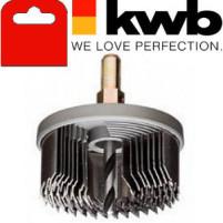 Коронка пильная по дереву, 8 частей, закаленный зуб, KWB