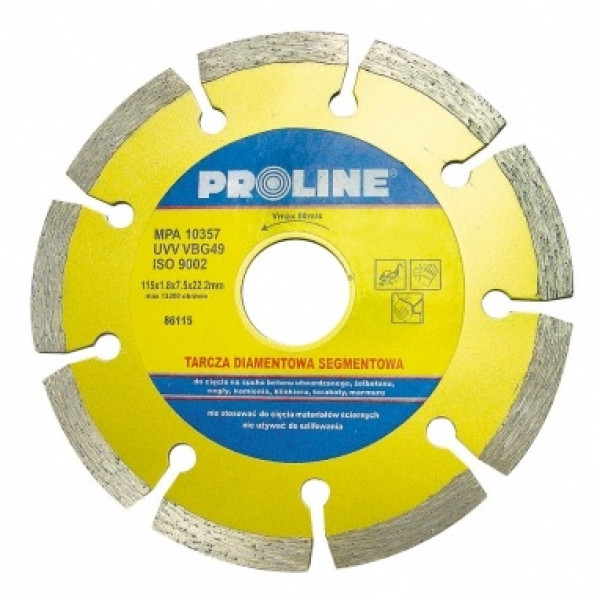 Диск алмазный 115x1,8x7,5x22,2 мм (Segm.) PROLINE — Инсел
