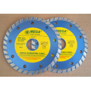 Комплект из 2 дисков алмазных 115x2,4x7,0x22,2 мм (Turbo) MEGA - Инсел