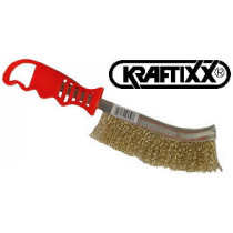 Щетка ручная, сталь, KRAFTIXX
